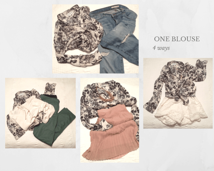 one Blouse- 4 ways Chantal Sarkisian Ganni Blouse Vincent Plus Size Fashion Blog Ottawa