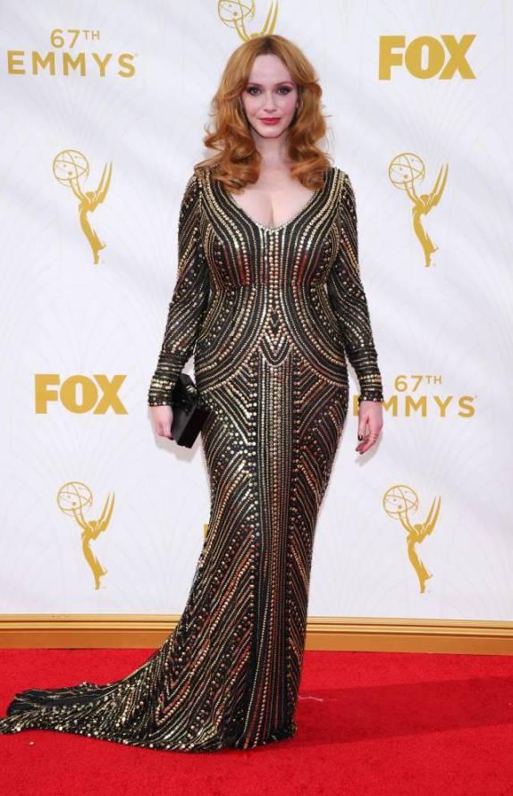 Mode XLusive Canadian Fashion Blog Curvy Christina Hendricks Emmys 2015 red carpet dresses