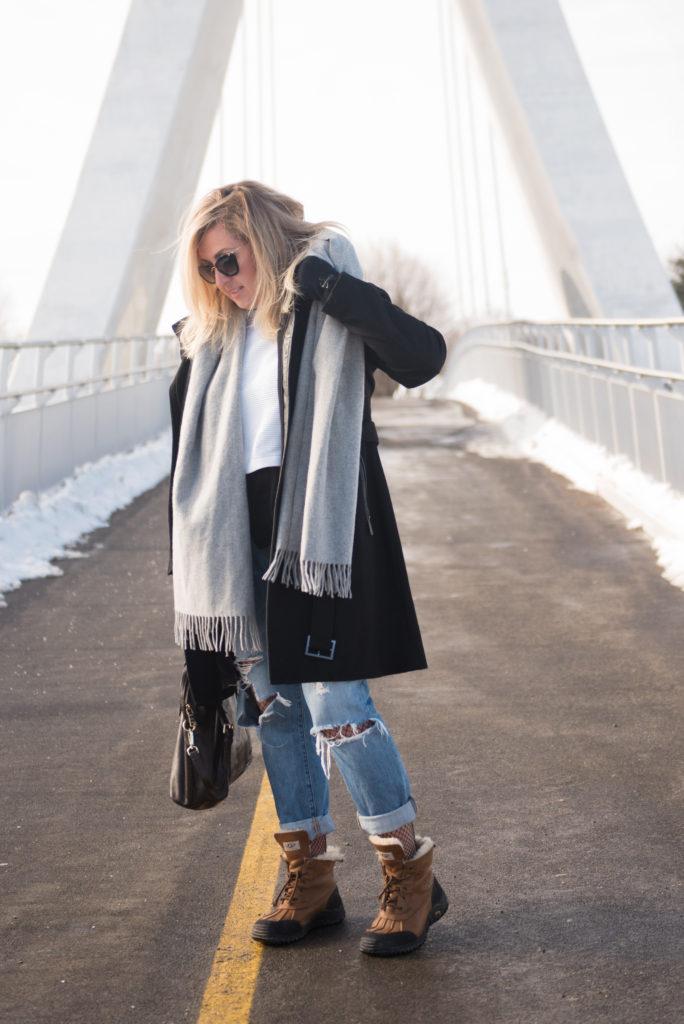 winter fashion trend ripped jeans fishnet Ottawa fashion blogger