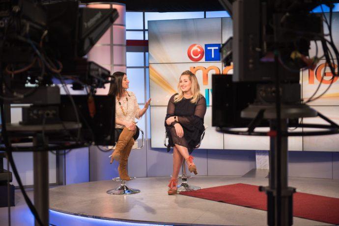 Present a tv segment blogger Chantal Sarkisian Ottawa Fashion Blog