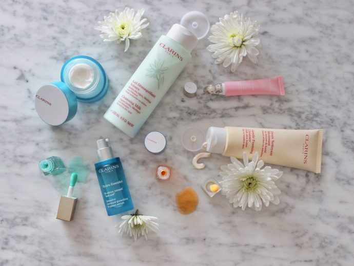 Clarins-skin-care-routine-dry-winter-Ottawa-Canada-beauty-blog-blogger-vlogger-Canadian-face-cream-eye-cleanser