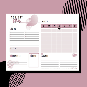 You Got This Monthly Productivity note pad by Chantsy