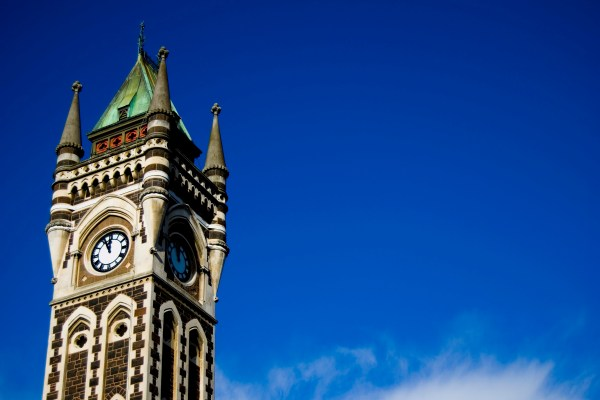Dunedin, New Zealand's University of Otago Clocktower, an example of Gothic Revival Architecture