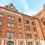 The Best Place to Stay in Venice, Italy - Hilton Molino Stucky - A view of the front exterior of the Hilton Hotel on the Island of Giudecca, Venice. The hotel maintains a private taxi service to San Marcos and sits just 10 minutes from the bus station and cruise ship docks.