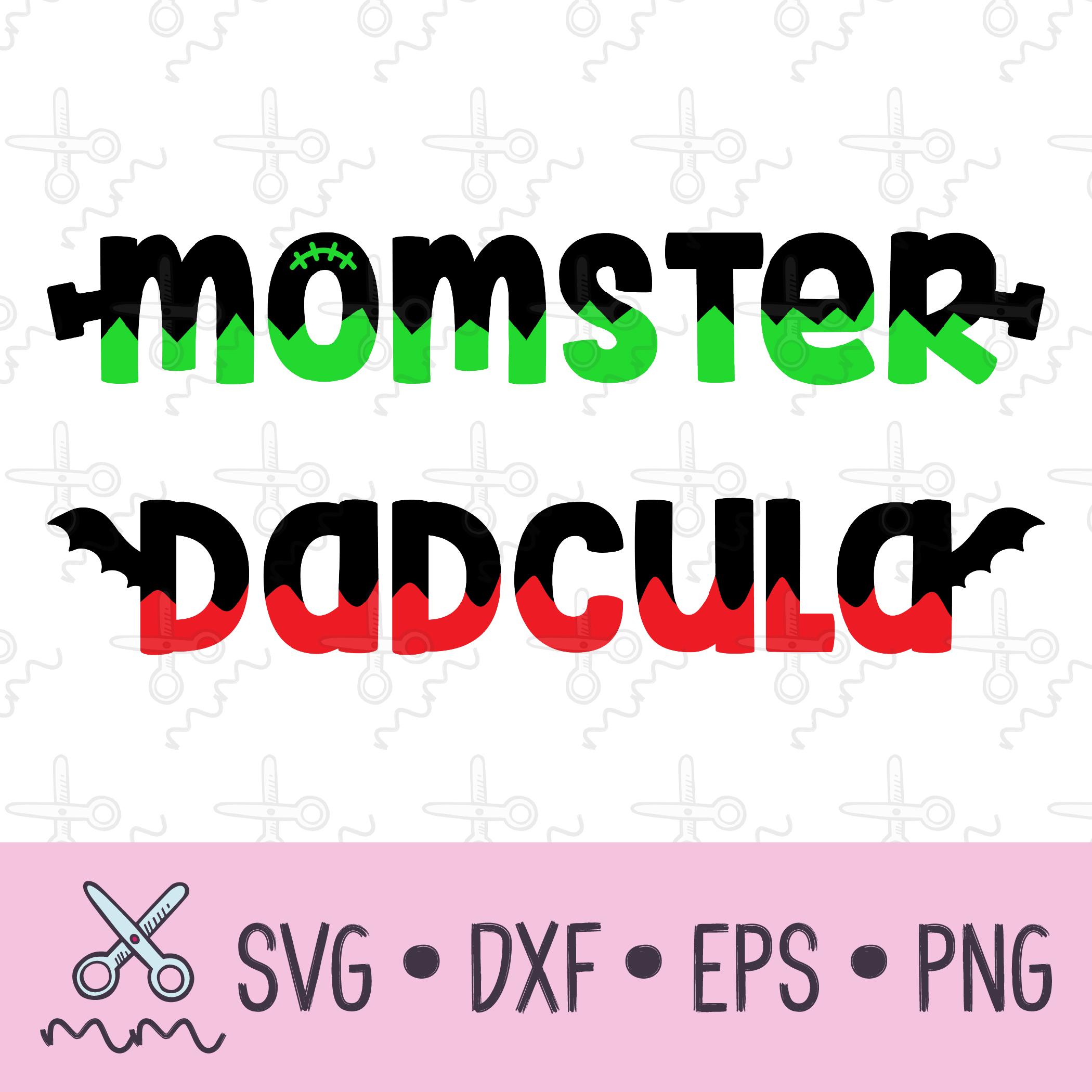 Momster And Dadcula Svg Bundle The Modish Maker