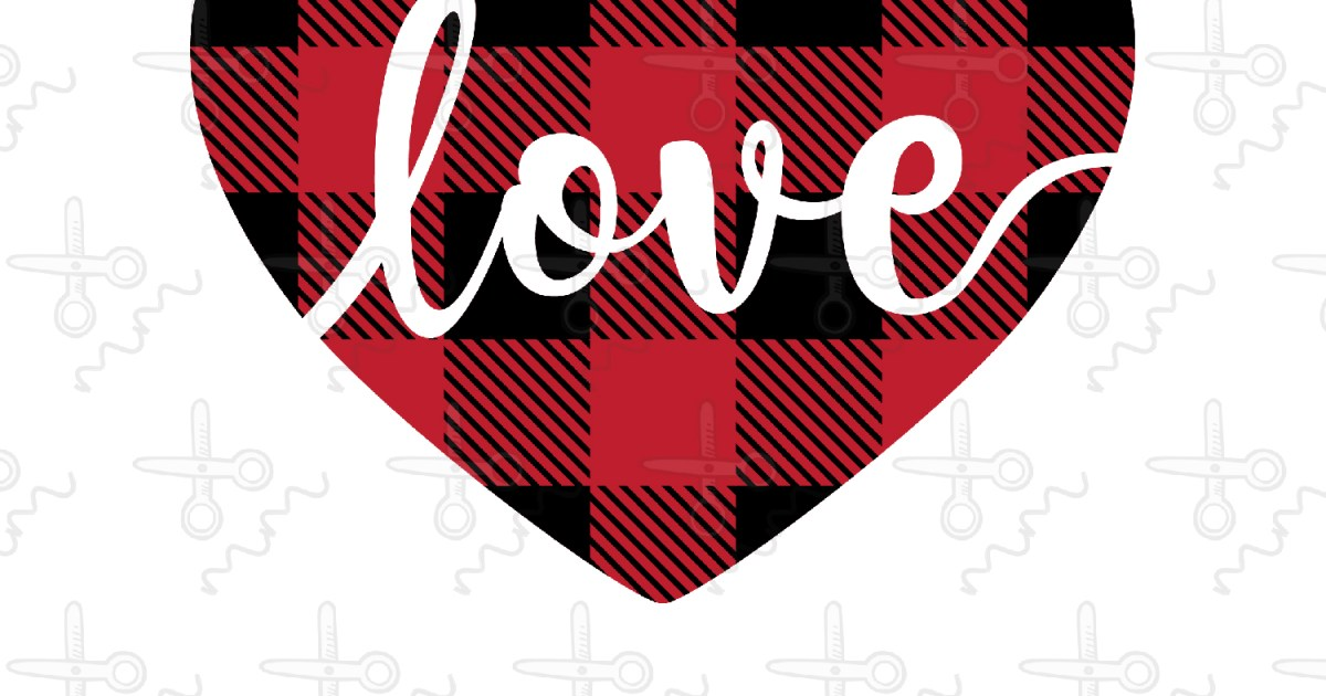 Download Plaid Heart Love SVG - The Modish Maker