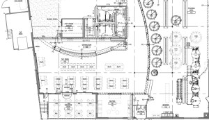 blueprint of the new taproom