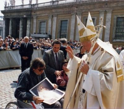 Zázračné uzdravenie Ugo Festa pred ikonou Božieho milosrdenstva 1