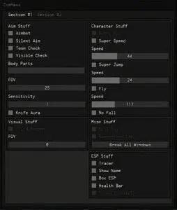 phantom forces mod menu GUI