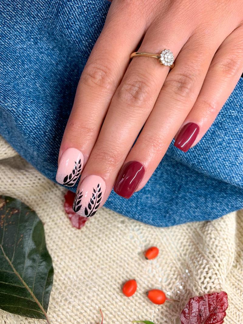 Jesienna Stylizacja Paznokci Lakierami Charbonne Od Gabrielle Nails