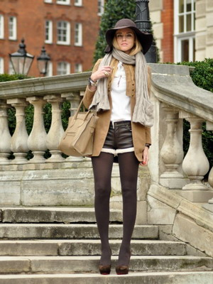 What can I wear with brown tights? 12