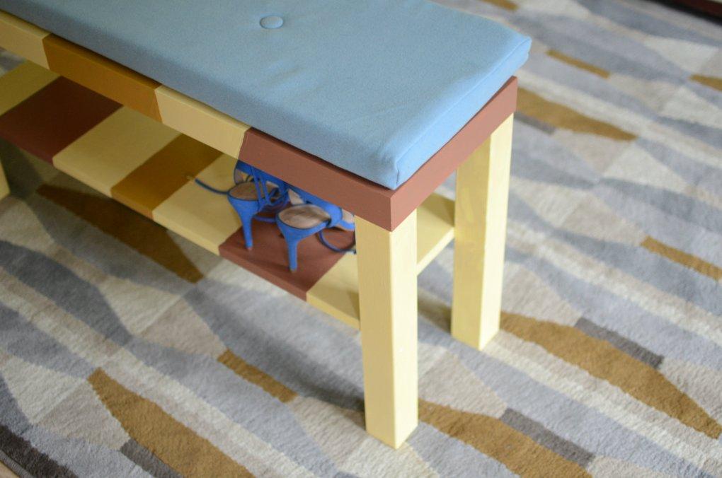Ikea hack DIY skrinka na topanky Modny tucet_DIY_lavicka
