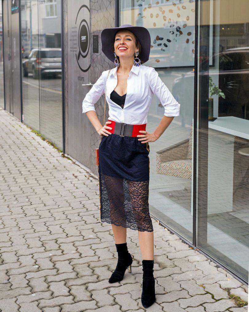 sperky-bizuteria-modny blog-blogerka-stylove oblecenie-cipkovana sukna-damsky klobuk-styling