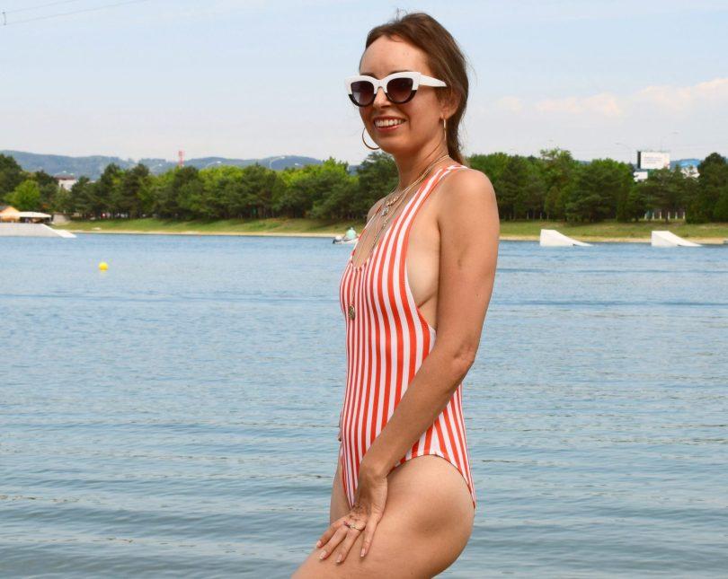 Plavky pruhovane blogerka