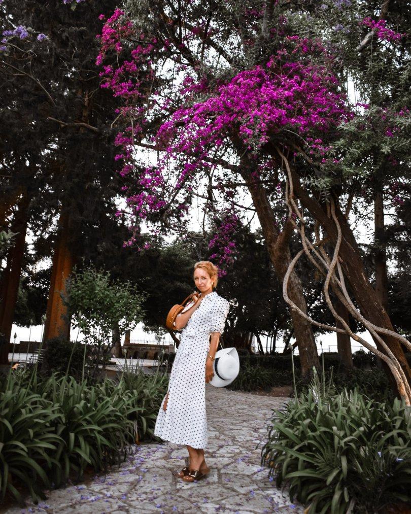 Blog blogerka modny tucet bavlnene saty bodkovane