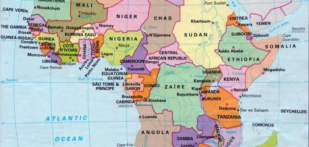 عواصم دول أفريقيا موضوع