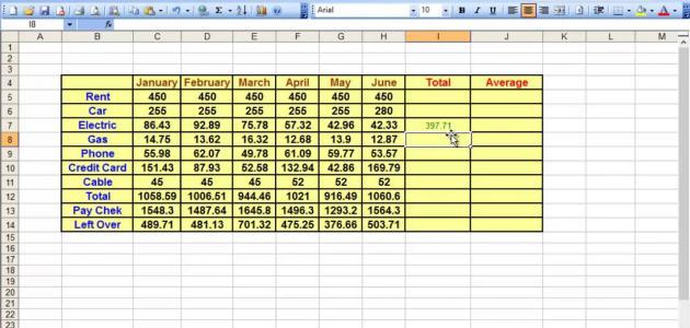طريقة عمل جدول على Excel موضوع
