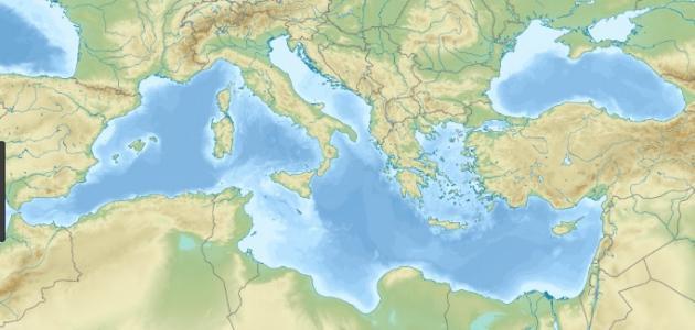 أين يقع البحر المتوسط موضوع