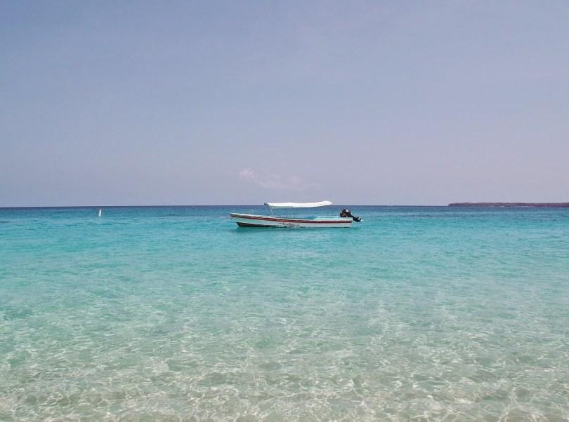 Águas transparente de Playa Blanca