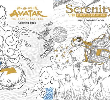 libros de colorear avatar serenity