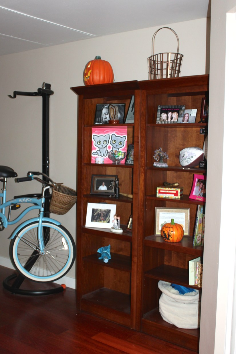 After: Entry way bookcases