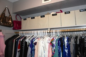 Closet- After: above shelving storage