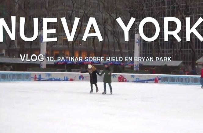 patinar sobre hielo en nueva york, bryan park, nueva york en navidad
