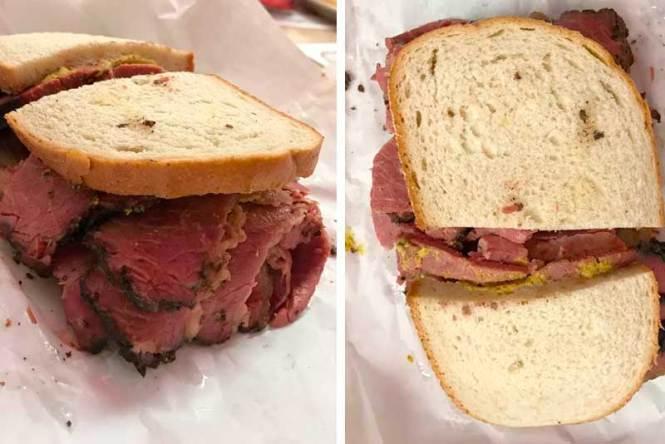 dónde comer en nueva york. sandwich de pastrami
