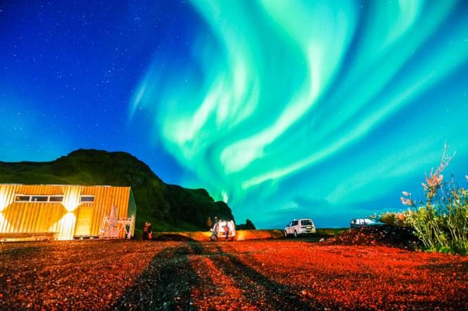 aurora boreal islandia sur