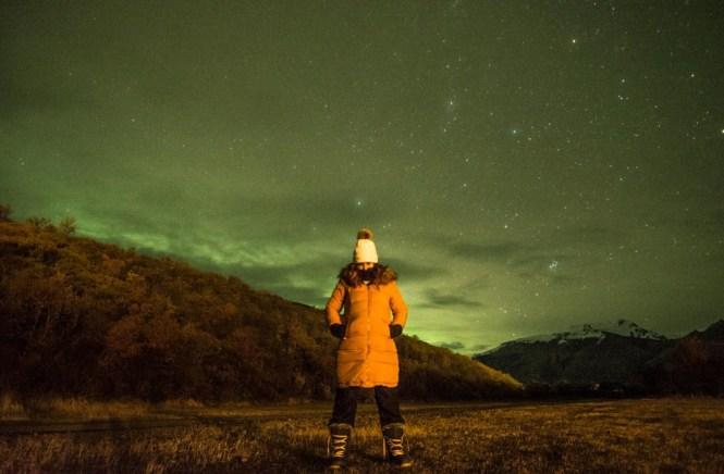 Parque Nacional Skaftafell aurora boreal