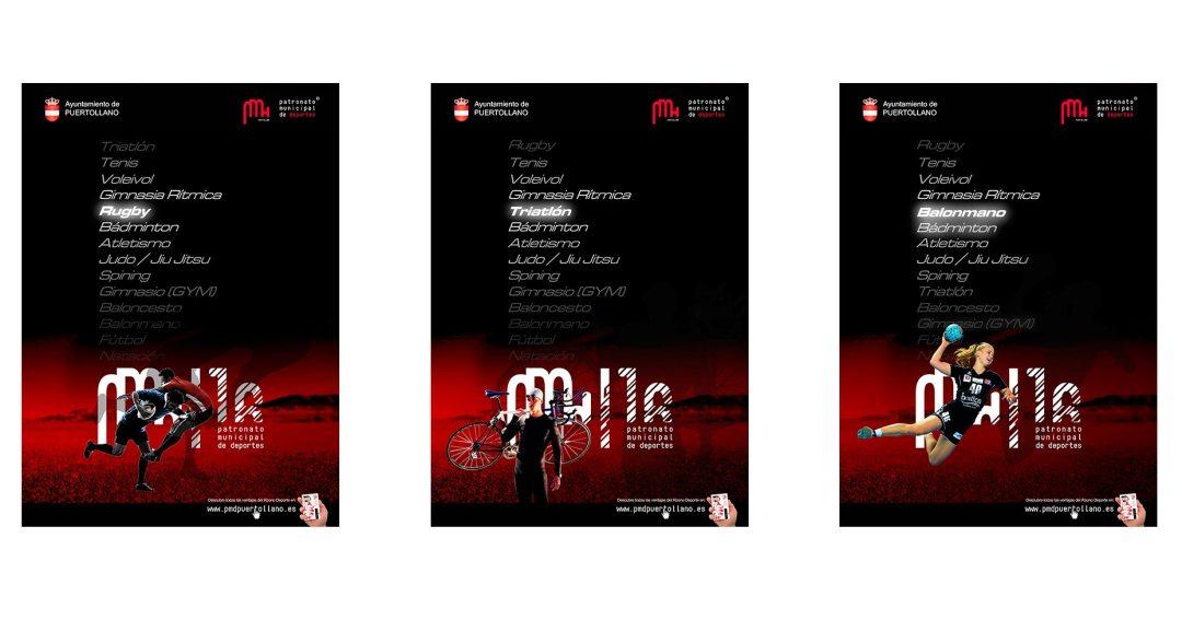 carteles diseño gráfico ciudad real patronato de deportes