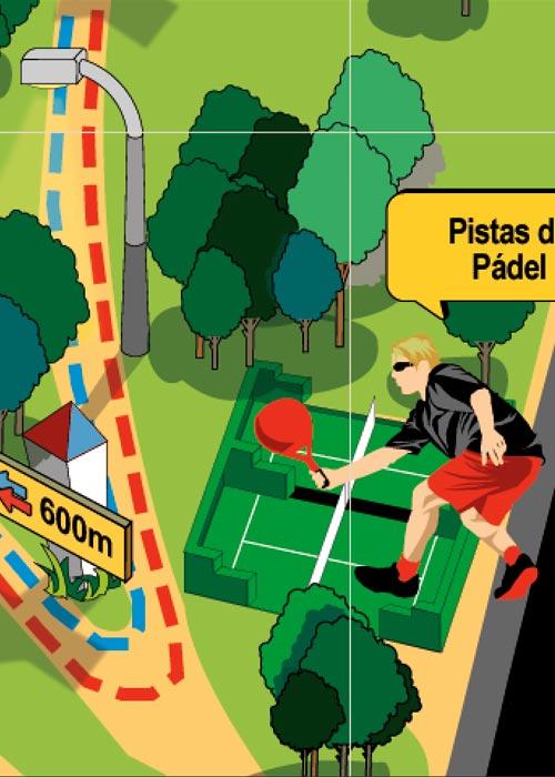 ilustración diseño gráfico ciudad real patronato de deportes 4