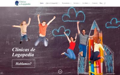 Diseño de página web. Clínicas de Logopedia.