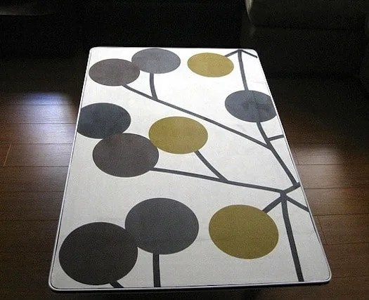 fabric coffee table with mod podge