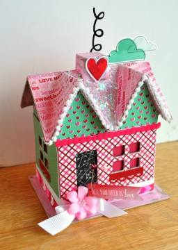 DIY Valentine s Day paper mache house   Mod Podge Rocks Add some love to your holiday decor with this DIY Valentine s Day paper  mache house