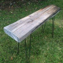 Weathered Trinity table, a Modern Rustic original.