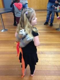 Showing off her jetpack