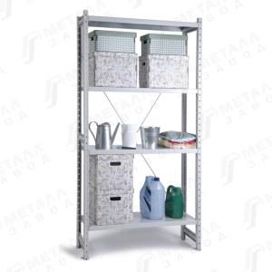 Металлические стеллажи СК нагрузкой на полку до 125 кг