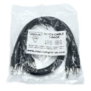 Eurorack Patch Cable_Black_9-150cm_Modular Synth Lab