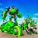Flying Tiger Robot Attack Flying Bike Robot Game 2.8 APK MODs Unlimited money free Download on Android