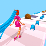Perfect Long Hair Walk High Runway Race Challenge 1.8 APK MODs Unlimited money Download on Android