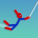 Super Hero Hook Stickman Rope Swing 1.0.8 APK MODs Unlimited money Download on Android