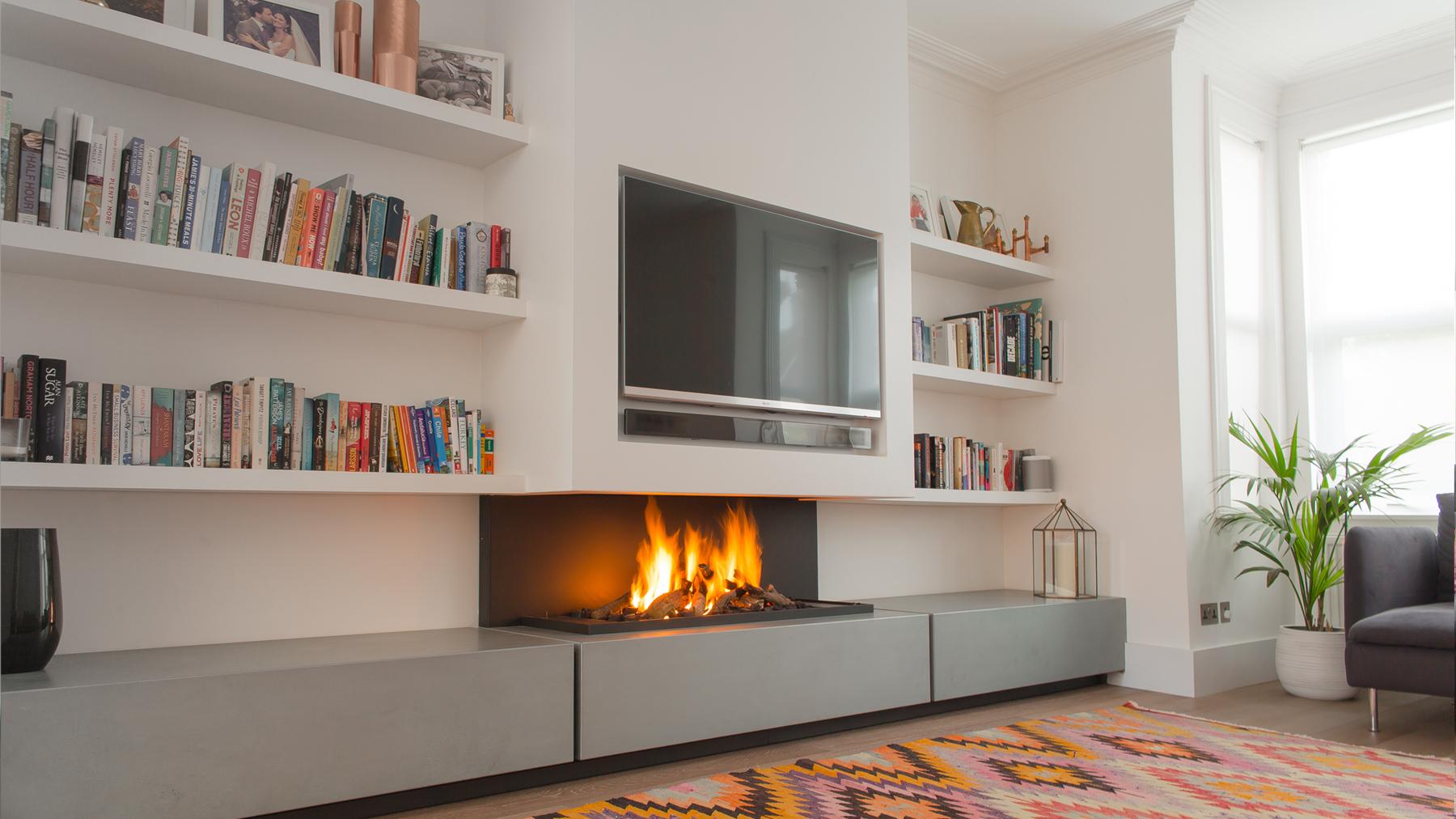 572 Tv Contemporary Fireplace I Modern Fireplace