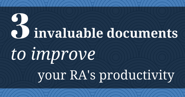 The 3 Invaluable Documents to Improve Your Research Assistant's Productivity