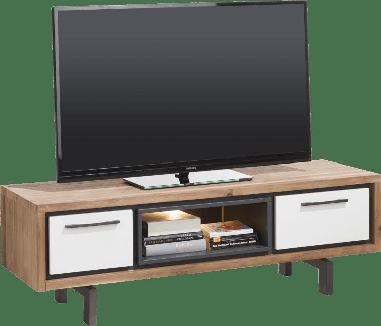 xooon otta tv sideboard 140 cm 1 lade 1 klappe 1 nische led