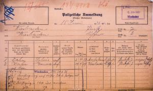 Julius Kahn, Melanie Kahn, Joseph Wolf Wiesbaden