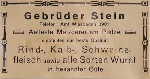 Gustav Stein,Julius, Stein, Herta Stein, Alfred Stein, Paula Stein, Julius Stein, Joel Stein, Gustav Stein, Isaak Stein, Dotzheim Metzger, Judenhaus Wiesbaden, Herrngartenstr. 11