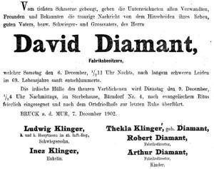 Robert Diamant, Elisabeth Diamant Grandjen, Thekla DiamantMoritz Diamant, Beate Diamant, Max Diamant, Hermine Diamant, Blumenstr. 7, Judenhaus Wiesbaden