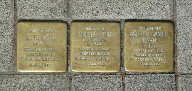 Otto Kahn, Walter Kahn, Emilie Kahn, Judenhaus Herrngartenstr. 11, Wiesbaden Schierstein