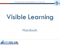 Visible Learning Handouts Slide